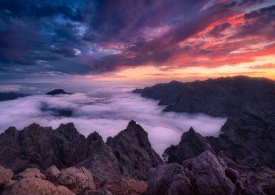 Fotografía de paisaje en el Roque de Los Muchachos